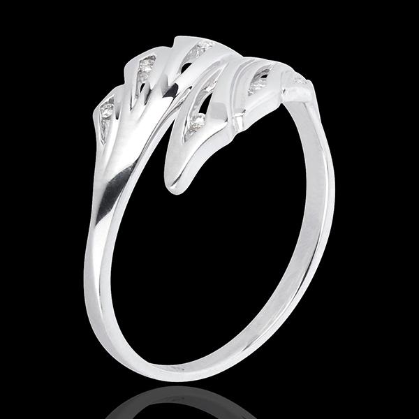 Bague Fraicheur - Palmes - or blanc 18 carats