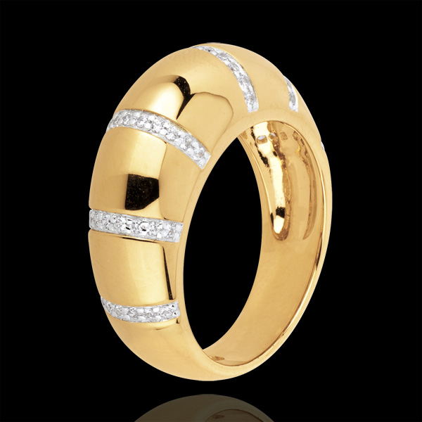 bague Gaya or jaune 18 carats et diamants