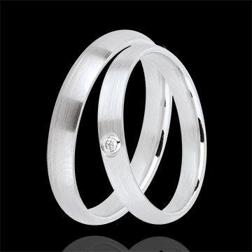 Super Duo d'alliances Cascade 1 diamant : bijoux Edenly #VQ_86