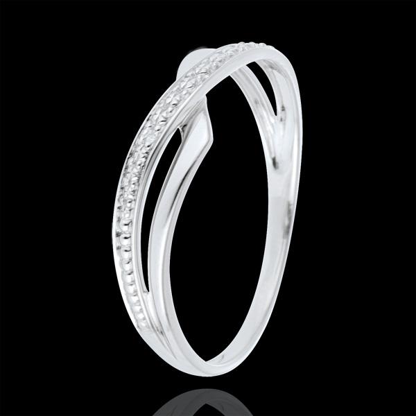 Bague Marina or blanc 9 carats et diamant