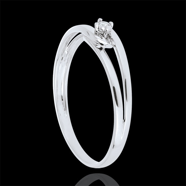 Bague Modernity Diamant or blanc 18 carats - diamant 0.01 carat