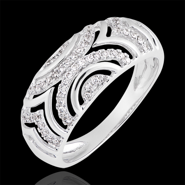 Bague Mona - or blanc 18 carats et diamants
