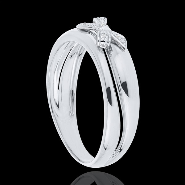 Bague Noeud Ma chérie Or blanc - or blanc 9 carats