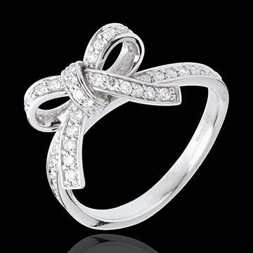 Bague nouée diamants - or blanc 18 carats - 0.423 carats
