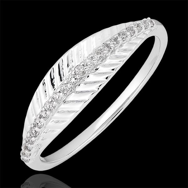 Bague Palme royale - or blanc 18 carats et diamants