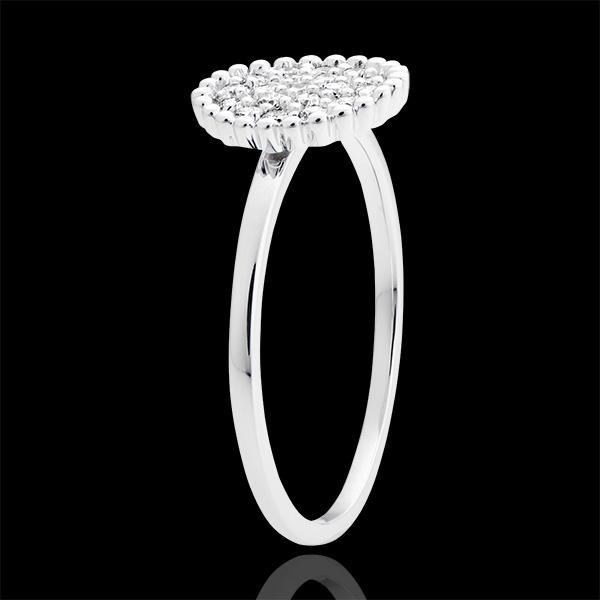 Bague Penelope - or blanc 18 carats et diamants