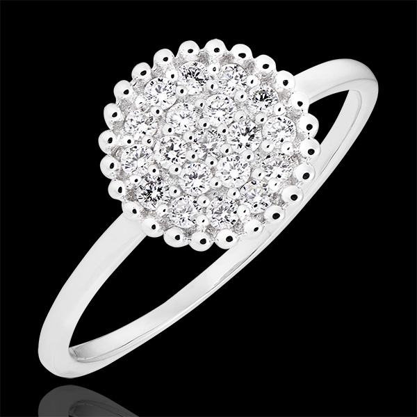 Bague Penelope - or blanc 9 carats et diamants