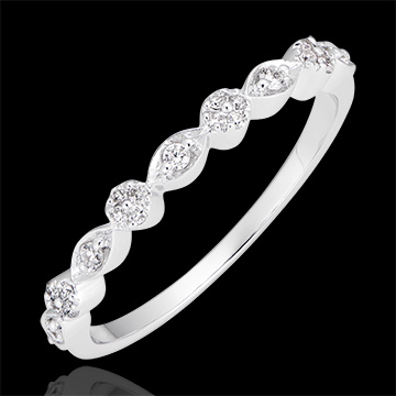 Bague Petites Pampilles - or blanc 9 carats et diamants