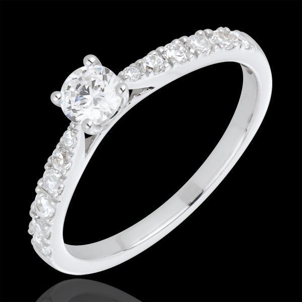 Bague Solitaire Belle Chérie or blanc 18 carats - diamant 0.3 carat