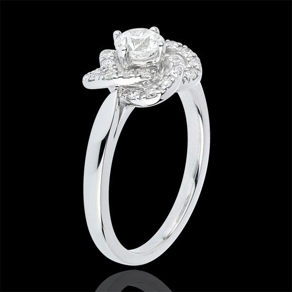 Bague Solitaire Éclosion - Rose De Carat - or blanc 18 carats