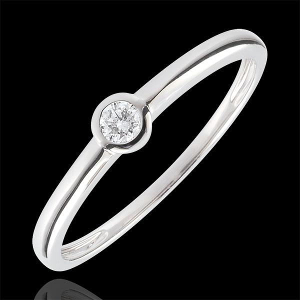 Bague Solitaire Mon diamant - 0.08 carat - or blanc 18 carats