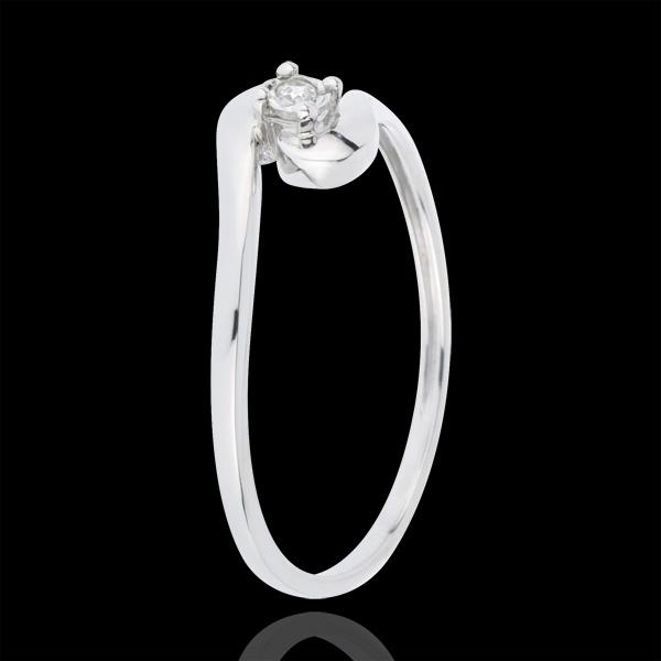 Bague Solitaire Nid Précieux - Union D'Amour - or blanc 18 carats