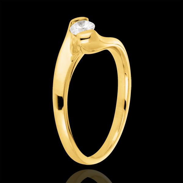 Bague solitaire Passion éternelle or jaune 9 carats - 0.24 carats