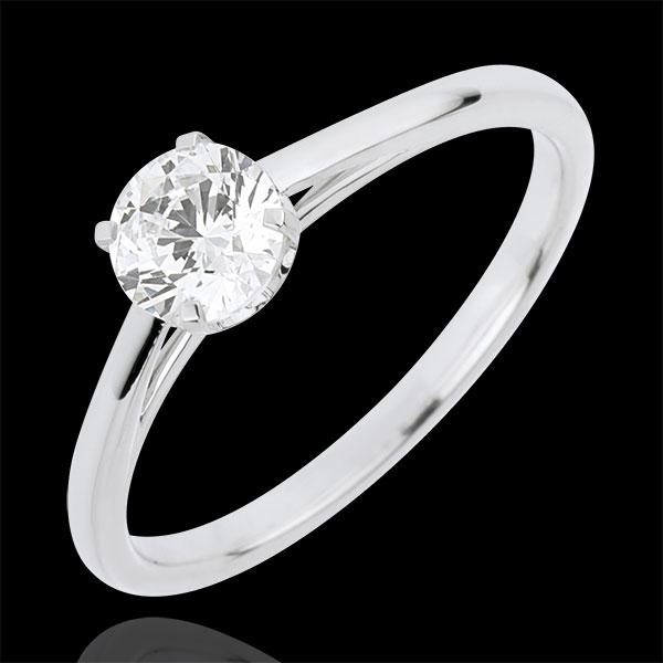 Bague Solitaire Pureté Précieuse - diamant 0.50 carat - or blanc 18 carats