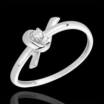Bague Souvenir or blanc 18 carats et diamant