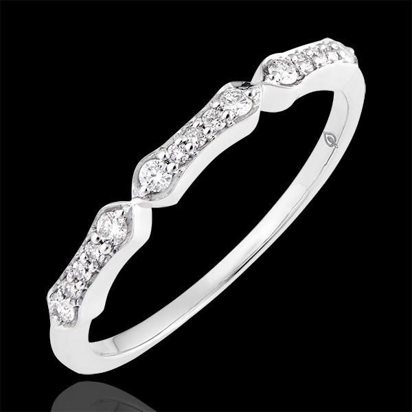 Bague Stella - or blanc 9 carats et diamants