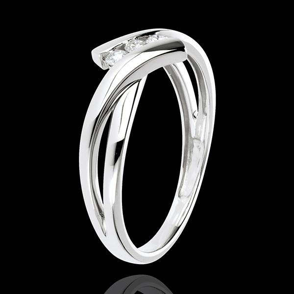 Bague Trilogie Nid Précieux - or blanc 18 carats - 3 diamants