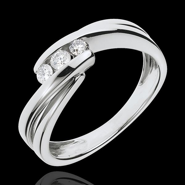 Bague trilogie Nid Précieux - Ritournelle - or blanc 18 carats - 0.21 carat - 3 diamants