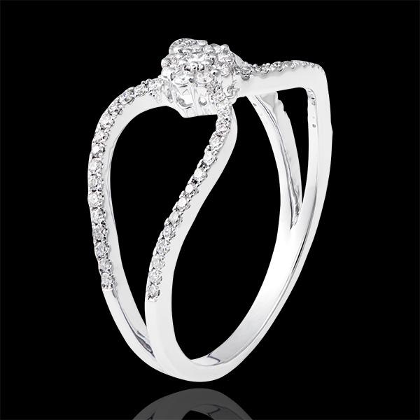 Bague Valentine - or blanc 18 carats et diamants