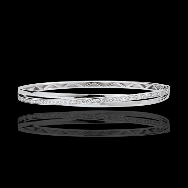 Bangle Saturnus Diamant 18 karaat witgoud