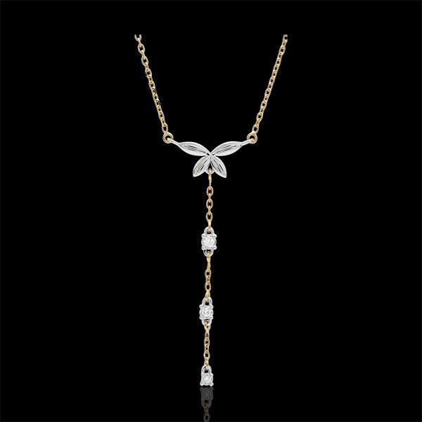 Bi-colour Diaphanous Necklace - 18 carats