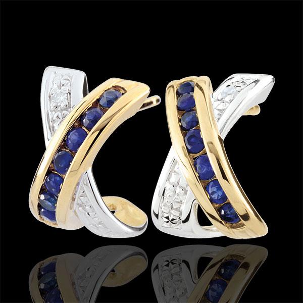 Bi-colour Gold Parma Earrings