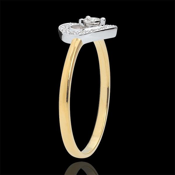 Bi-colour Gold Tiphanie Heart Ring - 18 carats