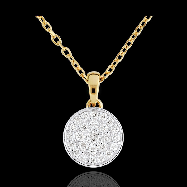 Bi-colour My Constellation Necklace - 0.163 carat - 18 carats