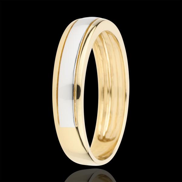 Bicoloured Wedding Ring Horizon