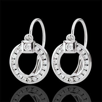 Boucle d'oreilles Lutine - or blanc 18 carats