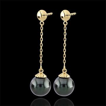 Boucles d'oreilles Amura or jaune 9 carats - perles