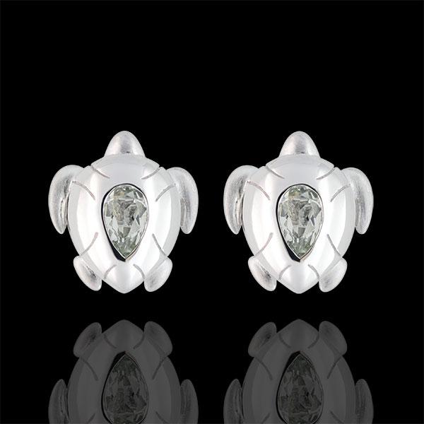 Boucles d'oreilles Balade Imaginaire - Tortues Océanes - Argent et pierres fines