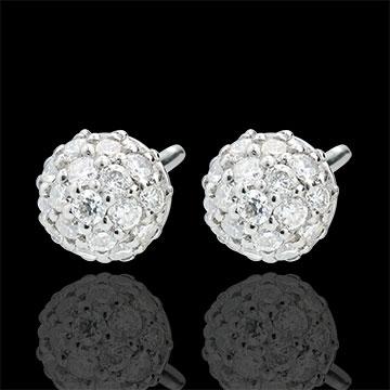 Boucles d'oreilles Charme de Diamant - or blanc 9 carats