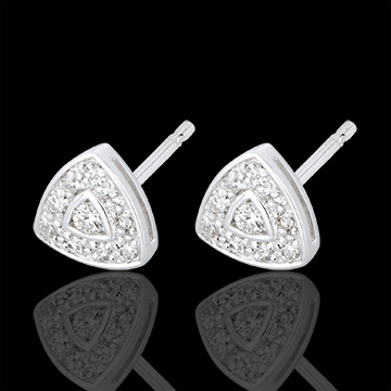 Boucles d'oreilles Cinéma or blanc 18 carats et diamants