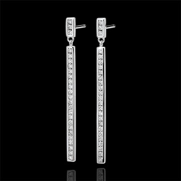 Boucles d'oreilles Constellation - Astrale - or blanc 9 carats et diamants