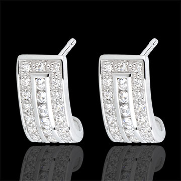 Boucles d'oreilles Constellation - Zodiaque - or blanc 18 carats et diamants