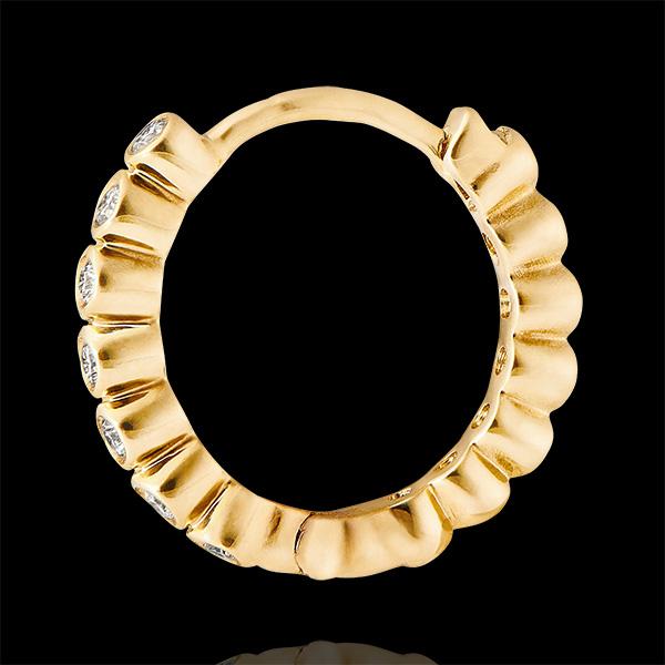 Boucles d'oreilles créoles Fleur de Sel - Écume Précieuse - or jaune 9 carats et diamants