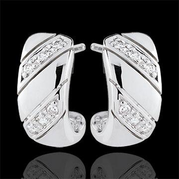 Boucles d'oreilles Créoles Jolie - or blanc 9 carats
