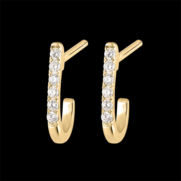 Boucles d'oreilles Demi-créoles Fraîcheur - Ella - or jaune 9 carats et diamants