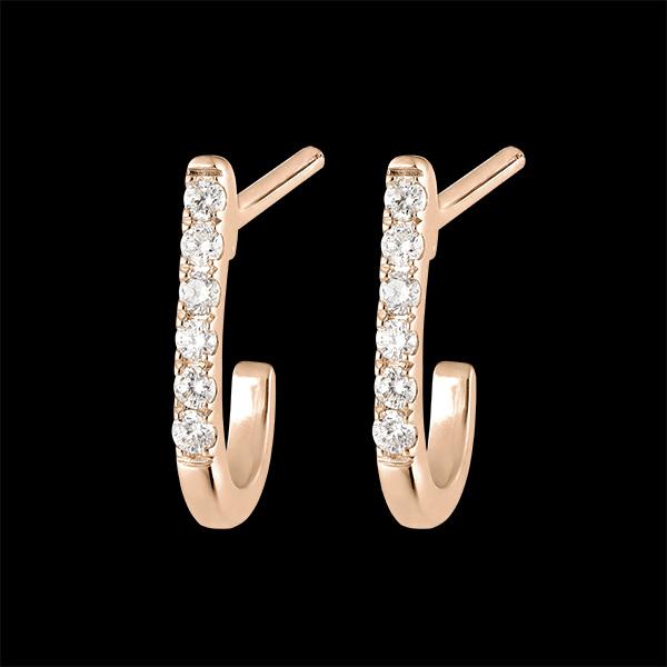 Boucles d'oreilles Demi-créoles Fraîcheur - Ella - or rose 9 carats et diamants