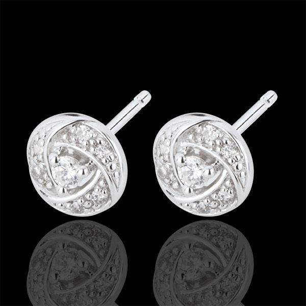 Boucles d'oreilles Destinée - Arthemis - or blanc 18 carats et diamants