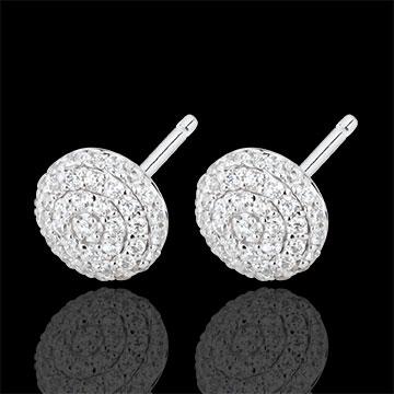 Boucles d'oreilles Destinée - Olga - or blanc 18 carats et diamants