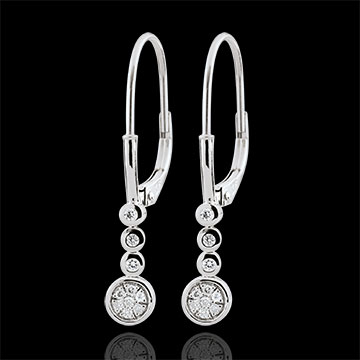 Boucles d'oreilles diamants Irissa - or blanc 9 carats