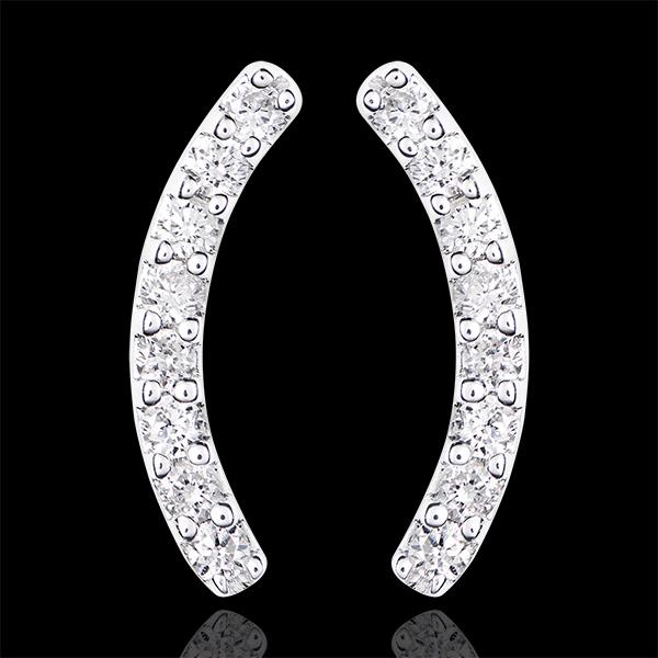 Boucles d'oreilles - Equilibrio - or blanc 9 carats et diamants