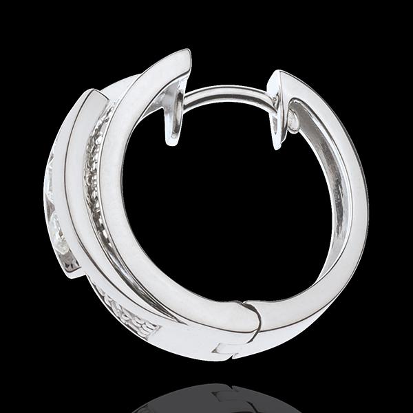 Boucles d'oreilles Féérie - Funambule - or blanc 18 carats - 64 diamants - 0.73 carats