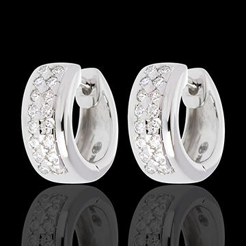 Boucles d'oreilles Constellation - Astrale - petit modèle - or blanc 18 carats pavé - 0.22 carat - 32 diamants