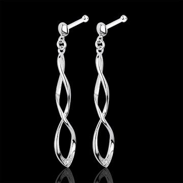Boucles d'oreilles Carnaval or blanc 18 carats et diamants