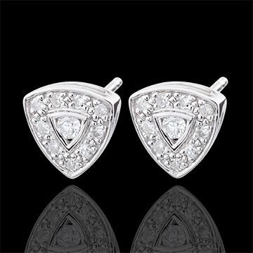 Boucles d'oreilles Trilia - or blanc 9 carats