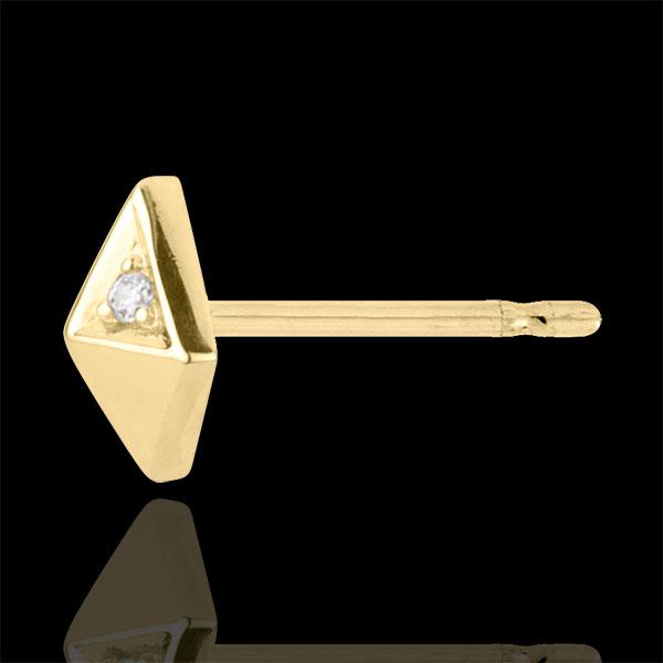 Boucles d'oreilles Genèse - Diamants bruts - or jaune 9 carats