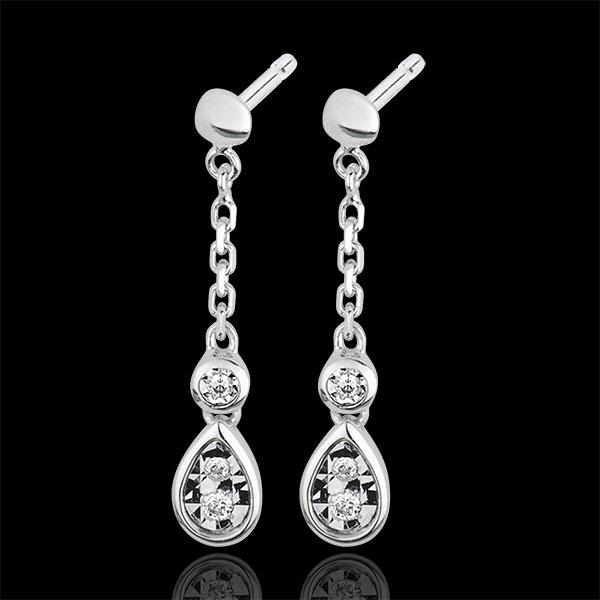 Boucles d'oreilles Joséphine or blanc 18 carats et diamants